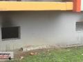 Kellerbrand in einem Mehrfamilienhaus - Treppenhaus stark verrau