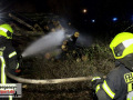 02.03.2021  - Neuss brennender Holzstapel