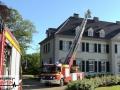 Gemeldeter Dachstuhlbrand im Schloss Laach - Verrauchung im Dach